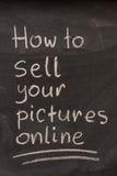 Comment vendre vos illustrations en ligne Photos stock