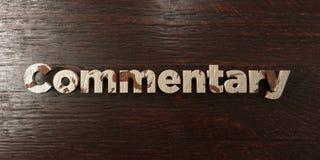 Commentaire - titre en bois sale sur l'érable - image courante gratuite de redevance rendue par 3D illustration de vecteur