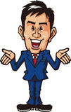 Commentary businessman. Businessman was motivated to a self-assured Remarks Stock Image