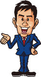 Commentary businessman. Businessman was motivated to a self-assured Remarks Stock Images