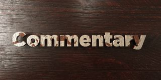 Commentary - grungy wooden headline on Maple  - 3D rendered royalty free stock image Royalty Free Stock Photos