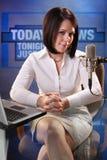 Commentatore del notiziario Fotografie Stock
