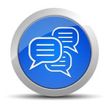 Comments icon blue round button illustration stock illustration