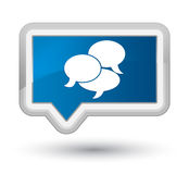 Comments icon prime blue banner button Stock Photos