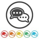 Comments icon, Question answer sign icon, 6 Colors Included. Simple vector icons set royalty free illustration
