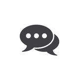 Comments icon , speech bubbles solid logo illustration, ch Royalty Free Stock Photo
