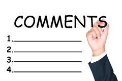 Comments list Royalty Free Stock Image