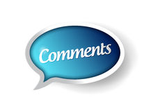 Comments message communication bubble Royalty Free Stock Image