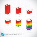 Comments Statistic Symbols. With Sticker Stock Photography