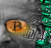 Commerçant de cryptocurrency de Bitcoin photos stock