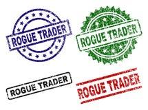 COMMERÇANT ESCROC texturisé grunge Seal Stamps illustration libre de droits