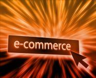 commerce électronique de bouton illustration stock
