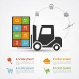 Commerce électronique infographic illustration libre de droits