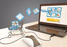 Commerce électronique, rendu 3d illustration libre de droits