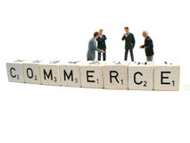 Commerce. An important part of our daily life stock photo