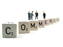 Commerce. A couple of businessmen bickering stock images