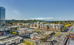 Commercial Buildings in Bellevue, Washington from Elevation Stock Photography