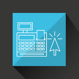 Commerce cash register money icon graphic Royalty Free Stock Photos