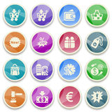 Commerce color icons. Stock Photos
