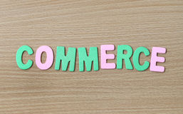 The commerce of colorful text. Stock Photo