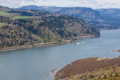 Commerce on the Columbia River Gorge Stock Images