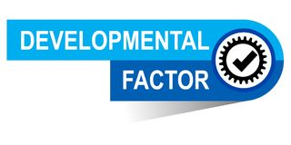 Developmental factor banner. Commerce concept web banner icon on isolated white background - vector eps illustration Royalty Free Stock Photos