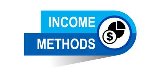 Income methods banner. Commerce concept web banner icon on isolated white background - vector eps illustration Royalty Free Stock Photo