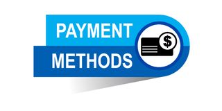 Payment methods banner. Commerce concept web banner icon on isolated white background - vector eps illustration Royalty Free Stock Photos