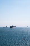 Commerce de canal de Suez Photos stock