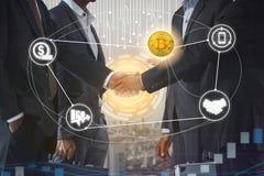 Commerce de Cryptocurrency et de blockchain et concept d'investissement illustration de vecteur