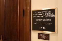Commerce de sénat, la Science et Comité de transport image libre de droits