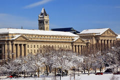 Commerce Department Old Post Office After Snow Stock Image