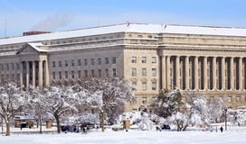 Commerce Department After Snow Constitution Ave Stock Photos