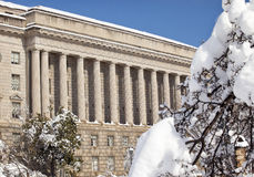 Commerce Department After Snow Constitution Ave Royalty Free Stock Photography