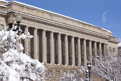 Commerce Department After Snow Constitution Ave Royalty Free Stock Photo