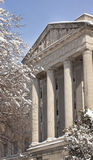 Commerce Department After Snow Washington DC Stock Photos