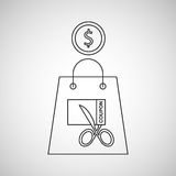 Commerce discount coupon money icon Stock Photography