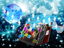 Commerce en ligne. Internet Photographie stock