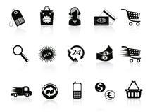 Commerce et graphismes au détail réglés Photographie stock