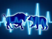 Commerce et investissement Image stock
