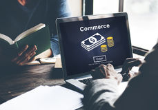 Commerce Exchange Buy Shopping Consumerism Concept Royalty Free Stock Photography