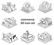 Commerce icon set Stock Images