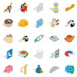 Commerce icons set, isometric style. Commerce icons set. Isometric set of 25 commerce vector icons for web isolated on white background Stock Images