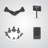Commerce Items and Icons Royalty Free Stock Photos