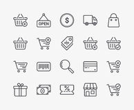 Commerce Line Icons. Set of Commerce Line Icons. Editable Stroke. 48x48 Pixel Perfect Stock Photos