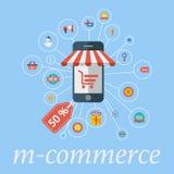 Commerce mobile illustration de vecteur