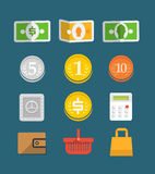 Commerce objects collection Royalty Free Stock Photo