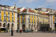 Commerce or Palace Square. Lisbon. Portugal Royalty Free Stock Photo