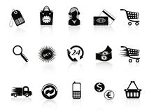 Commerce and retail icons set Stock Photography