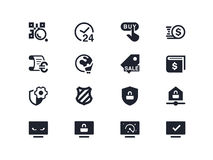 Commerce and security icons. Lyra series Royalty Free Stock Images